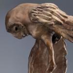 Tyto, bronze owl sculpture