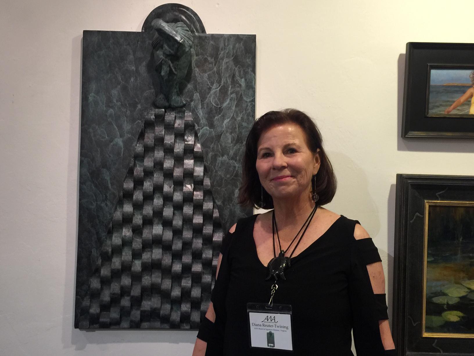 Diana with Mandarin Wall Art at AWA Show 2017