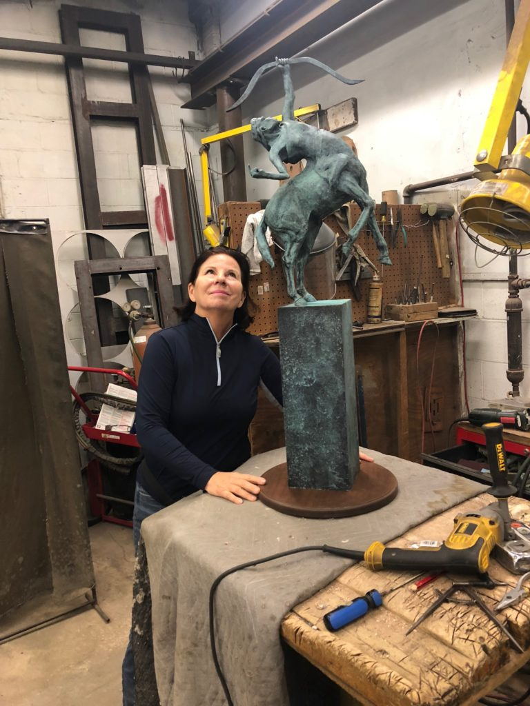 """Diana, Goddess of the Wild"" in the foundry"